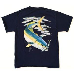 Guy Harvey Fish Graphic Tee T Shirt Mens Medium